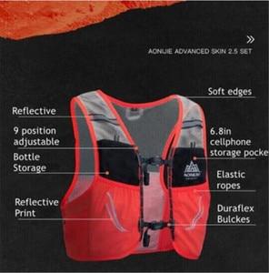 Image 3 - AONIJIE 2.5L Outdoor Leichte Trink Rucksack Rucksack Tasche Weste Wandern Camping Lauf Marathon 500ML Weiche Glaskolben