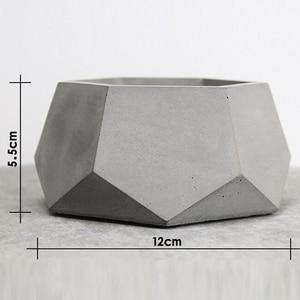 Image 2 - Geometric Concrete Planter Mold  Silicone Mould Handmade Craft Home Decoration Tool