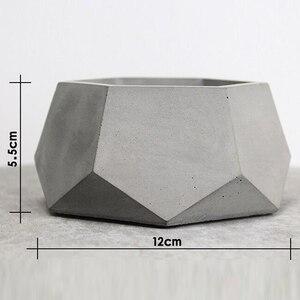 Image 2 - Geometryczne betonowe sadzarki formy silikonowe formy ręcznie dekoracja wnętrz (rękodzieło) narzędzie