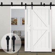 LWZH раздвижные деревянные двери обход раздвижные двери амбара комплект оборудования черный стали в форме сердца опорных катков для интерьера двойной двери