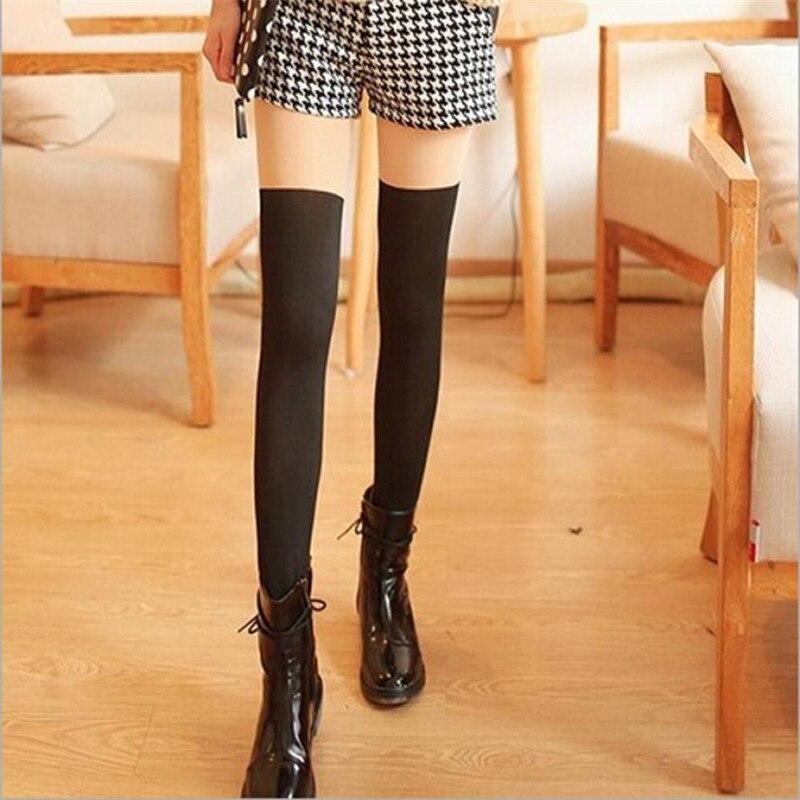 High Elasticity Girl Cotton Knee High Socks Uniform Black Nuts Women Tube Socks