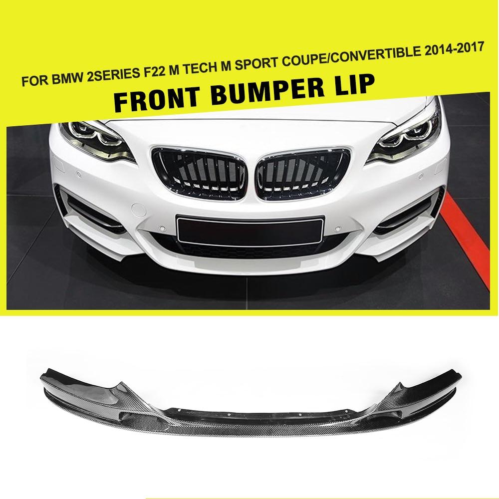 Carbon Fiber Auto Racing Front Lip Apron for BMW 2Series F22 220i 228i 230i M Sport Coupe & Convertible 2014-2017