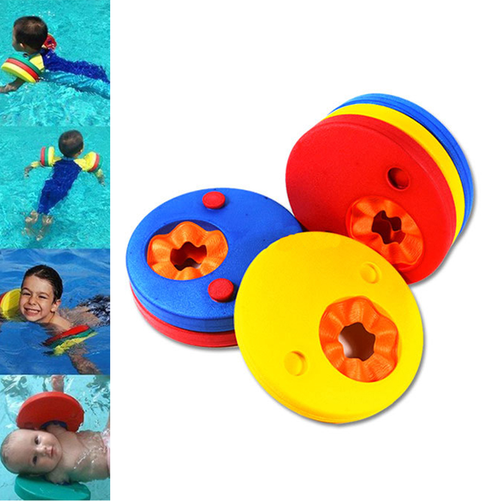 2Pcs EVA Foam Swim Discs Arm Bands Floating Sleeves Inflatable Floating Board Swimming Exercises Buoyancy Circles Rings TSLM2