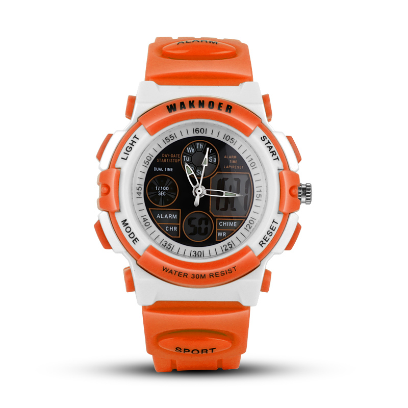 2017 WAKNOER Dual Display Wrist Watch Dameshorloge Waterproof - Dameshorloges
