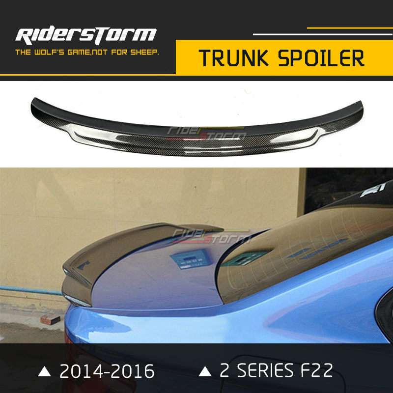 C74 Style F22 M235i Carbon Spoiler Wing Auto Trunk Spoiler For BMW 2 Series 220i 228i F22 2 Door Coupe 2014- up f22 performance carbon fiber spoiler f23 f87 m2 wing rear trunk lip for bmw 2 series 2014 2016 2 door coupe m235i 218i 220i
