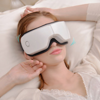 Top grade Rechargeable Electric Air Pressure Eye Massager Wireless Vibration Magnetic Far infrared Heating Usb Glasses