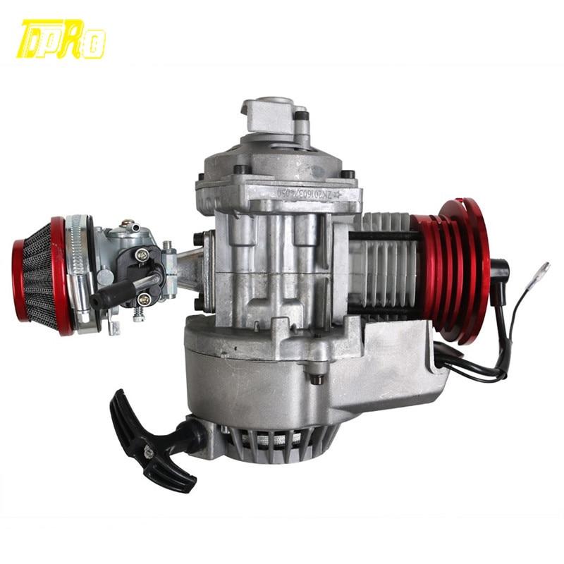 2 ход hp гоночный двигатель 49cc 47cc 50cc карман/Quad/Байк старт тяги красный