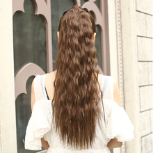 60cm/24inch  long curly ponytail synthetic fake hair ponytails hairpiece for lovely girl clip in curly ponytail hair extension