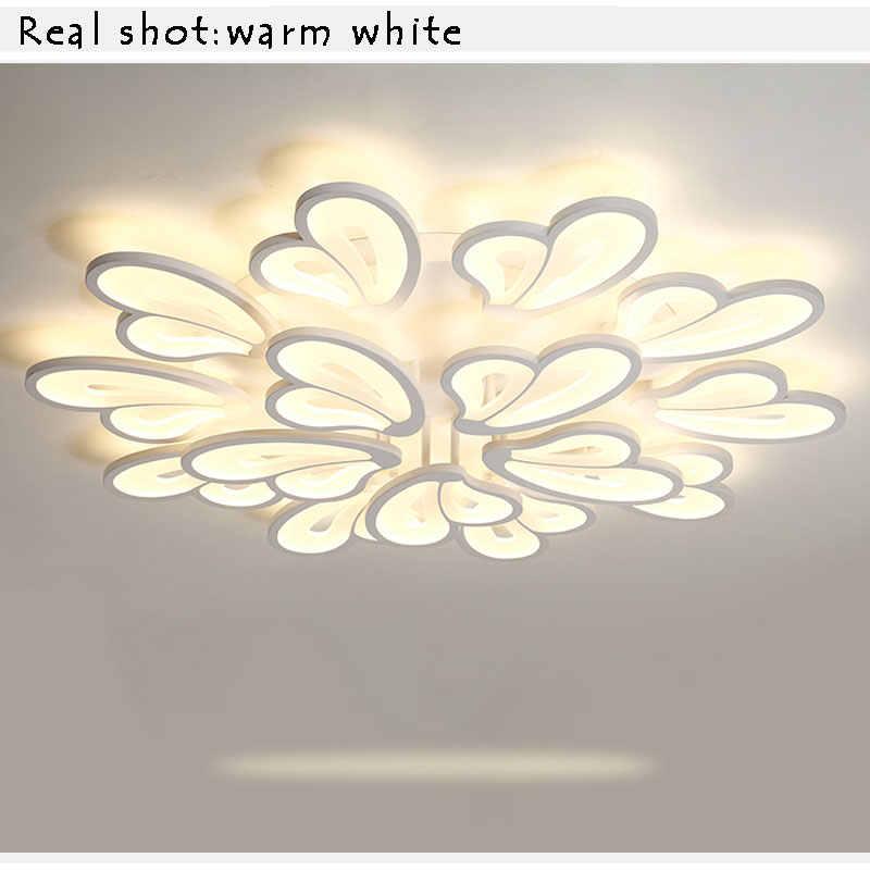 Светодиодный светильник современный светодиодный потолочный светильник для гостиной спальни Кухонные светильники белый акриловый светодиодный потолочный светильник крепление для лампы