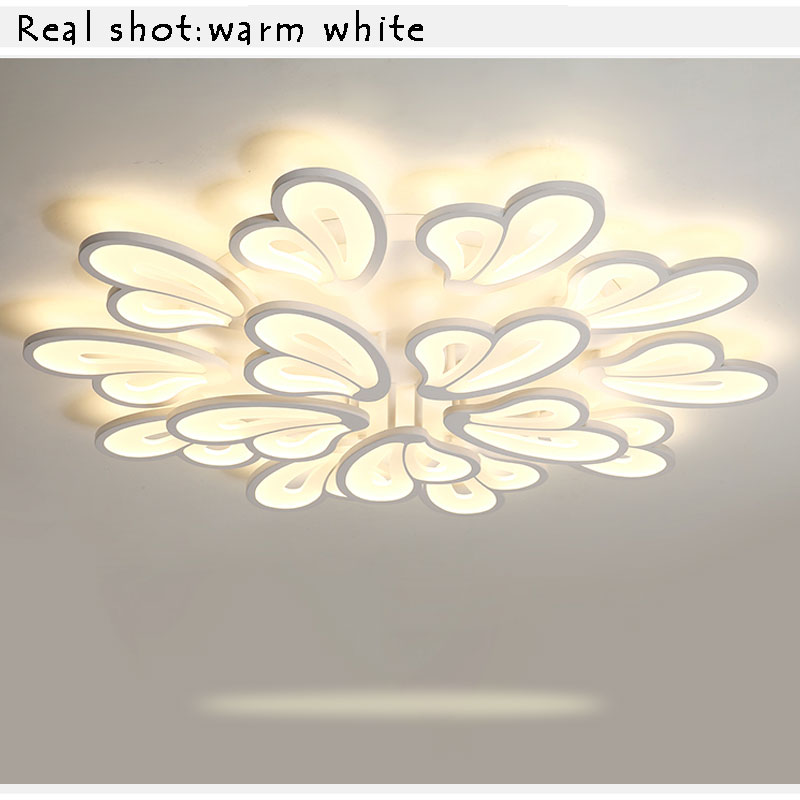 Ceiling Lights & Fans Cooperative Led Lustres Modern Led Ceiling Light For Living Room Bedroom Kitchen Luminaries White Acrylic Led Ceiling Lamp Lighting Fixtures Lights & Lighting