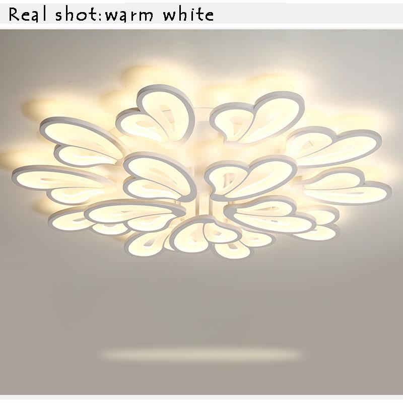 LED Lustres Modern LED Ceiling Light For Living Room Bedroom Kitchen Luminaries White Acrylic Led Ceiling Lamp Lighting Fixtures