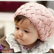 Осенне-зимняя шерстяная шапка для мальчиков и девочек, вязаная крючком шапка для новорожденных, детская шапочка, свитер для малышей, вязаный берет для детей