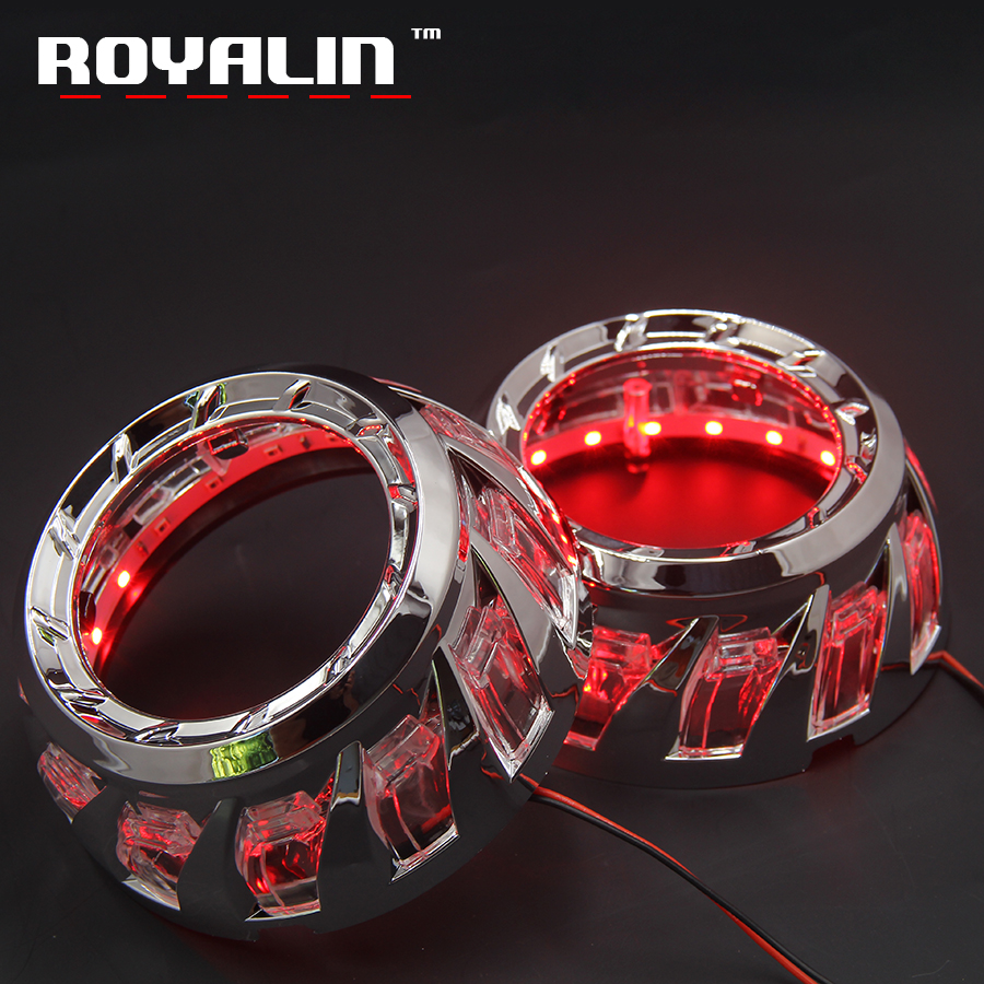 ROYALIN Car LED Turbine Devil Angel Eyes Shrouds Lights For 3