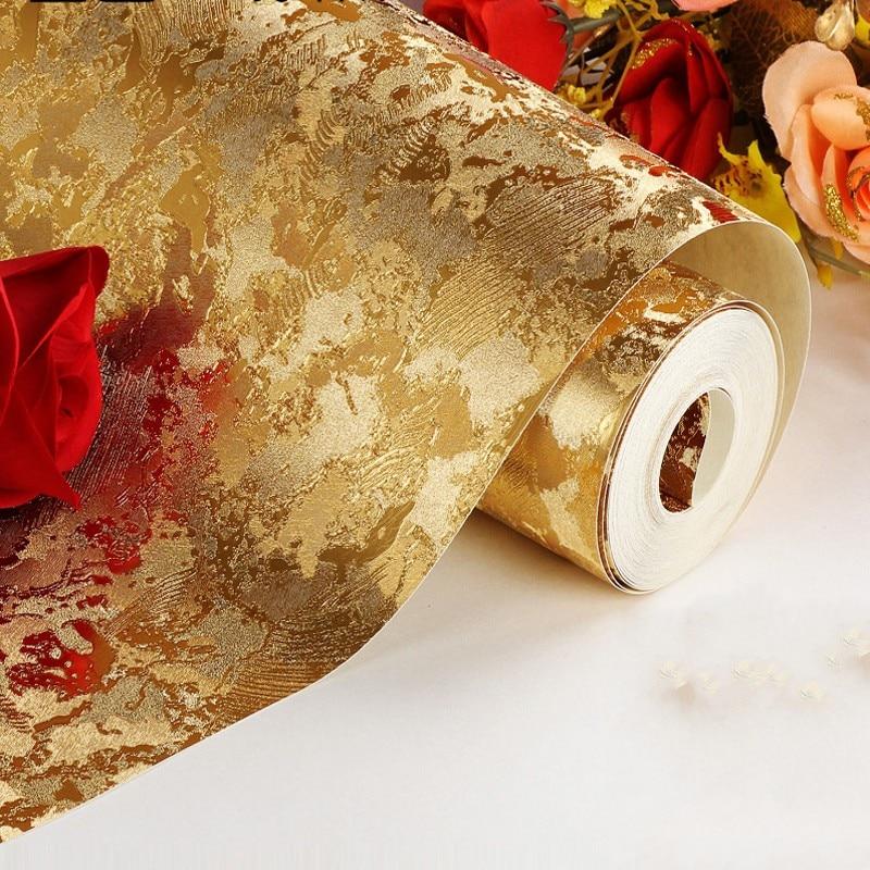 ФОТО beibehang papel de parede Floral Gold Foil Silver Foil Gold Silver Wallpaper Hotel KTV Bar Background Wallpaper