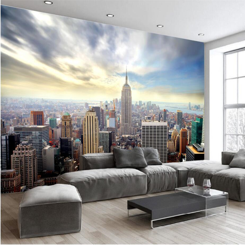 Beibehang Custom 3d Wall Paper USA New York Empire State