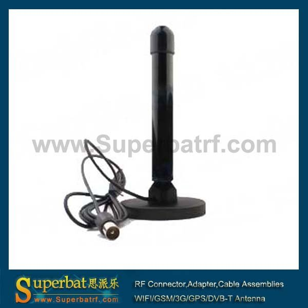Superbat Digital Freeview 28dBi Antenna Aerial with 150cm Cable TV Plug Male Connector for DVB-T TV HDTV Customizable
