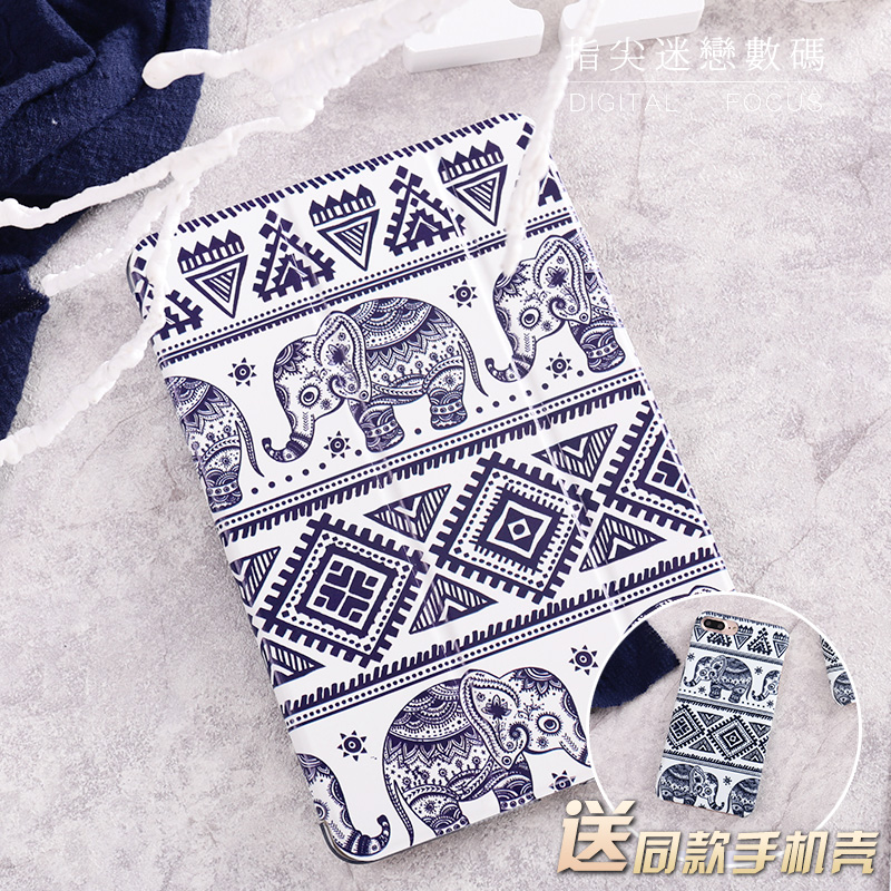 For New iPad 9.7 2017 Magnet Elephant Flip Cover For iPad Pro 9.7 Air Air2 Mini 1 2 3 4 Tablet Case Cover Protective Shell