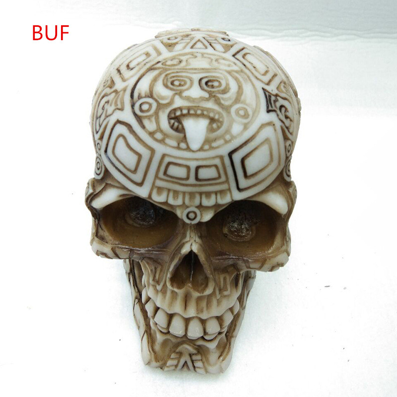 Resin Craft Carving Skull Statues & Sculptures Garden Statues Sculptures Skull Ornaments Creative Art Carving Statue