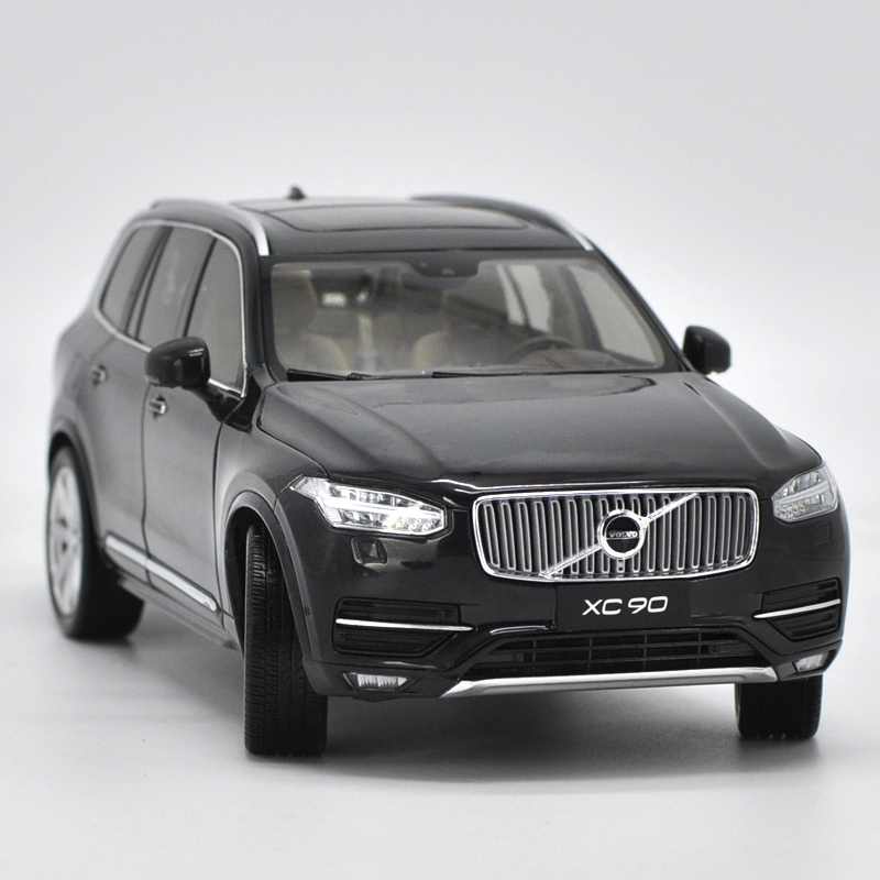 1:18 Alloy Pull Back Toy Vehicles Volvo XC90 SUV Car Model Of Children's Toy Cars Original Authorized Authentic Kids Toys