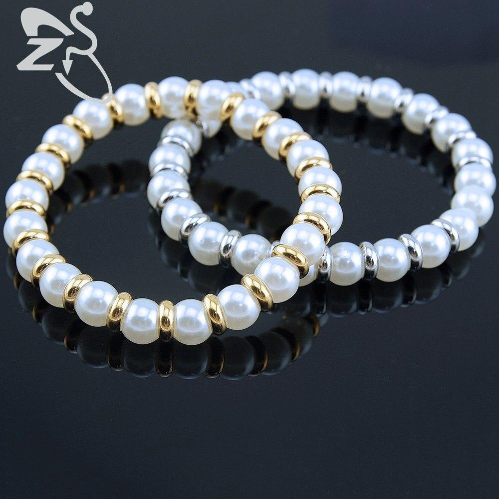 White Simulated Pearl Bracelets Bangles Elegant Women Bead Bracelet for women Fashion Jewelry Pulseira Feminina Mother Gifts