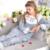 Princesa Pijamas Mulheres Sleepwear Feminino da Longo-Luva de Tecido 100% Algodão Sleepwear Set Lounge Pijama Real Rendas Floral Em Torno Do Pescoço