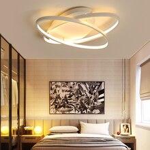 White / Coffe Fashional Super Thin Modern Chandelier For Living Room Bedroom Circle Rings Led Chandelier Light For Indoor Lighting