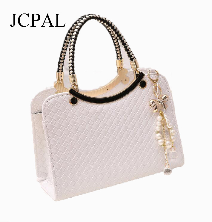 ФОТО The new 2016 handbags woven single shoulder bag inclined shoulder bag is contracted shell package women messenger bags