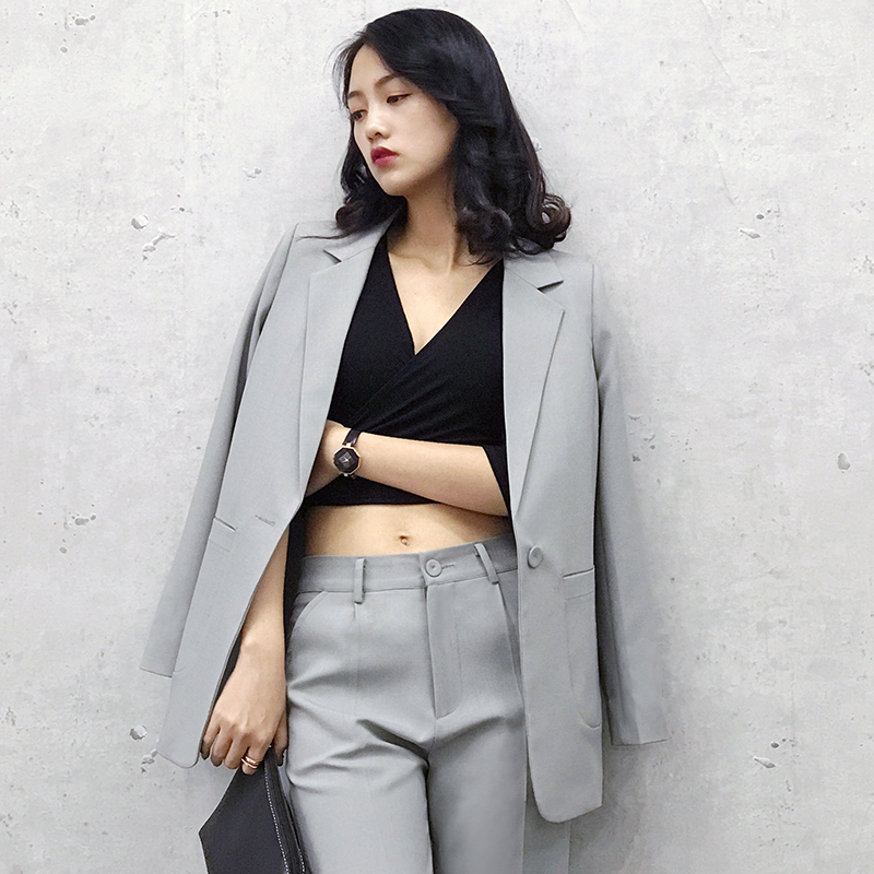 2018 New Formal Suits for Women Office Business Suitspants Work Wear Sets Uniform Styles Elegant Pant Suits J17CT0022 in Pant Suits from Women 39 s Clothing