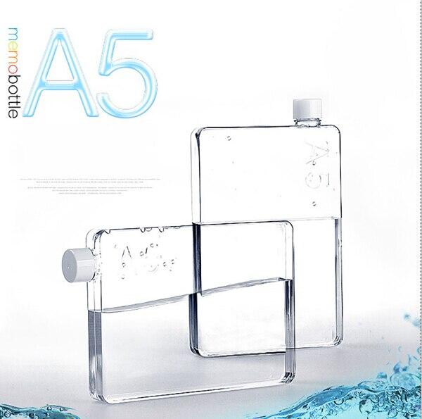 The New Memobottle A5 <font><b>Paper</b></font> <font><b>Cup</b></font> Kettle Portable Traveling A5 <font><b>Paper</b></font> Water Bottle 750ml BPA FREE <font><b>Flat</b></font> Creative