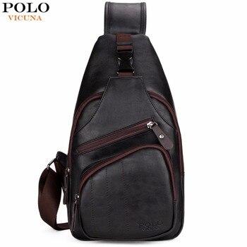 VICUNA POLO, очень большая модная мужская сумка через плечо, черная кожаная мужская сумка-мессенджер с защитой от воровства, дорожная нагрудная с...