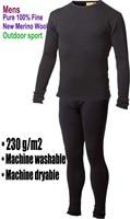Men S Male 100 Pure Merino Wool Outdoor Winter Sports Crew Fleece Base Layer Thermal Brand