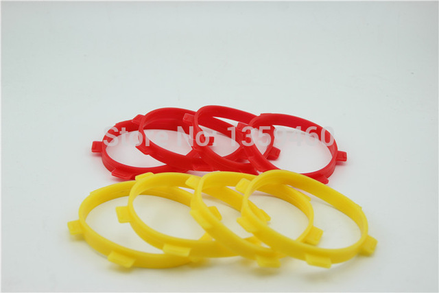 4pcs 85mm Stick Tire Ring For Tire Glue/ Gluing Bands(Fits For 1/8 buggy 1/10 Short-Course 1/8 Short-Course) Red or Yello