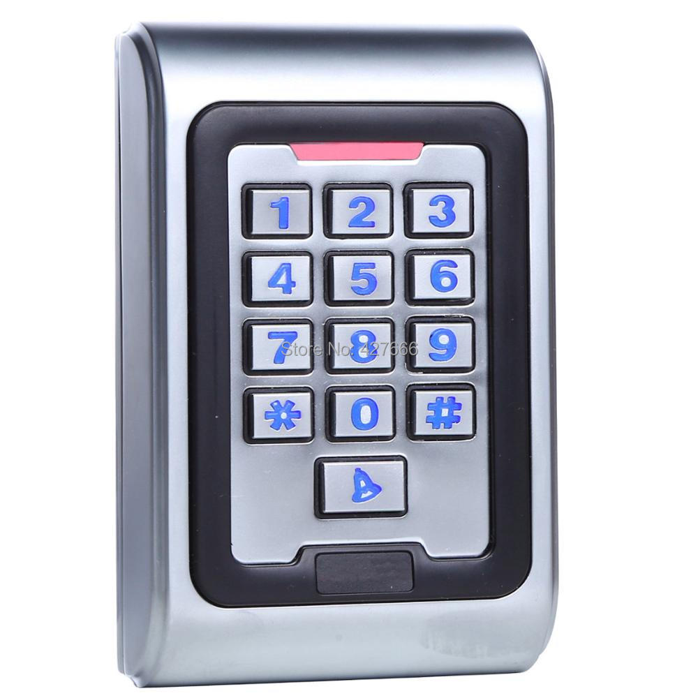 Stainless Steel Metal 125K EM ID Card With Keypad Standalone Access Control 125khz Proximity Card Standalone Access Control proximity rfid 125khz em id card access control keypad standalone access controler 2pcs mother card 10pcs id tags min 5pcs