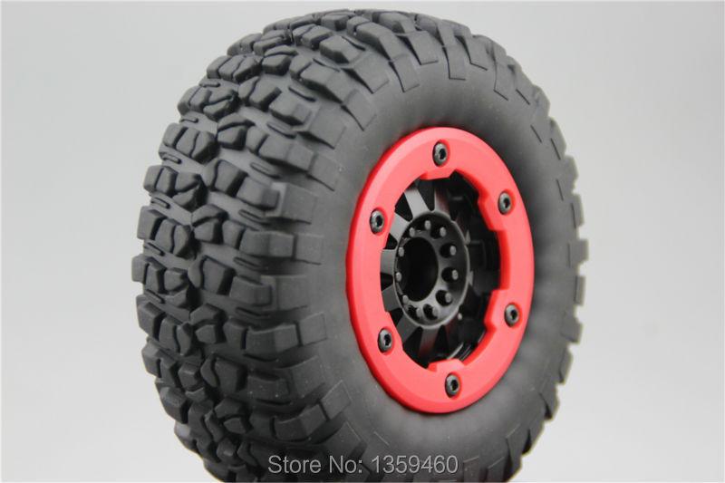 4pcs 48mm Pneu en Caoutchouc Wheel Tire pour 1//10 RC Voiture de Course