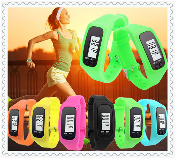 100pcs Long-life battery Multifunction Digital LCD Pedometer Run Step Calorie Walking Distance Counter High Quality