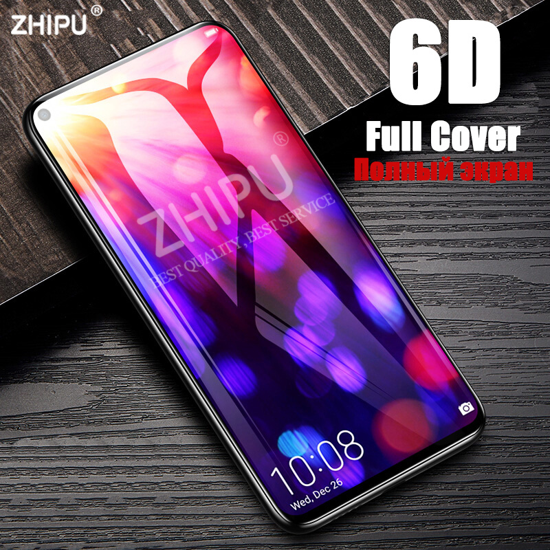 6D Tempered Glass For HUAWEI Honor View 20 V20 Pro Full Cover Curved Screen Protector Film Honor V20 20i 20s Protective Glass *