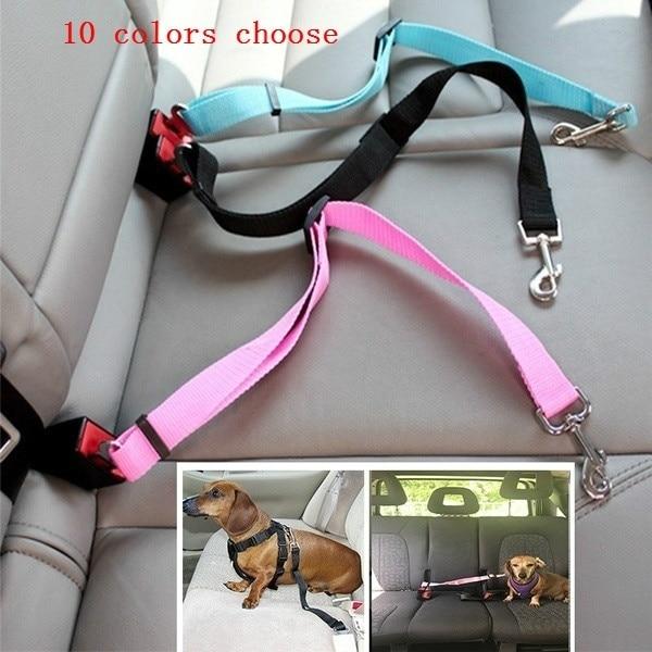 10 color to choose 1pcs Car font b Pet b font Dog Cat Adjustable Vehicle Safety
