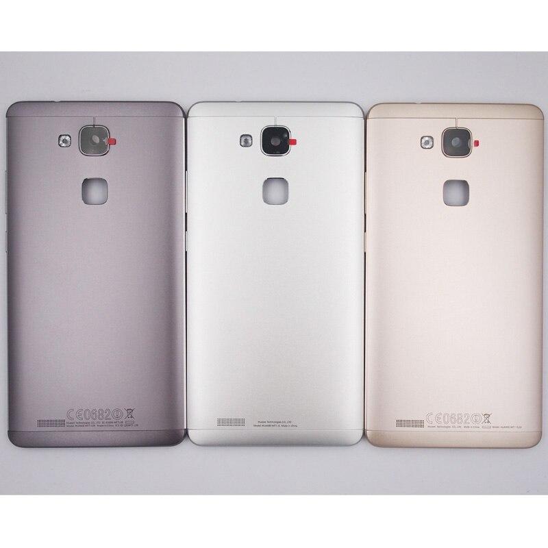 imágenes para 100% Nueva Puerta de La Batería Contraportada Caso de Vivienda Para Huawei Mate 7 Con Lente de La Cámara + Botones de Volumen de Energía