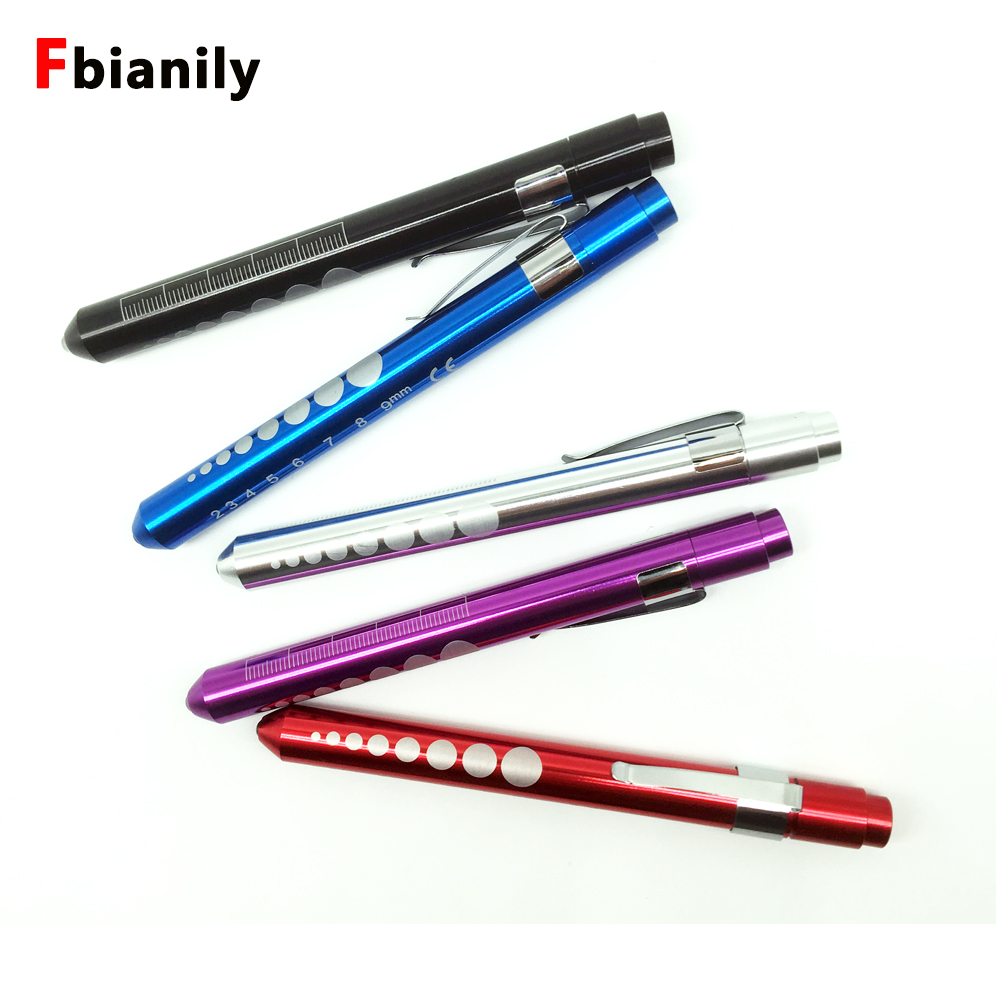 Simple Portable Medical First Aid LED Pen Light Led Flashlight LED Torch Doctor EMT Emergency Useful Multi Function