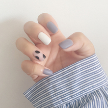 New Simple 24 pcs/set Wave point design Matte short size finished false nail,Square head full Nails tips,lady art tool bride