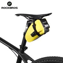 ROCKBROS Bicycle Saddle Tail Rear Seat Waterproof Storage Bags MTB Cycling Bike Accessories High-capacity Reflective Bag 2017