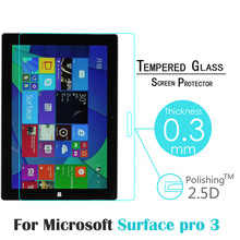 0.3MM 9H 2.5D Tempered Glass For Microsoft Surface Pro 3 12.0 inch Tablet HD Screen Protector Anti Shatter Protective Glass Film