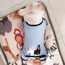 Купить с кэшбэком French Bulldog Pattern Jumpsuit Pet Dog Summer Clothes for Small Dogs Pug Costume Yorkie Pajamas Puppy 4 Leg Pets Clothing