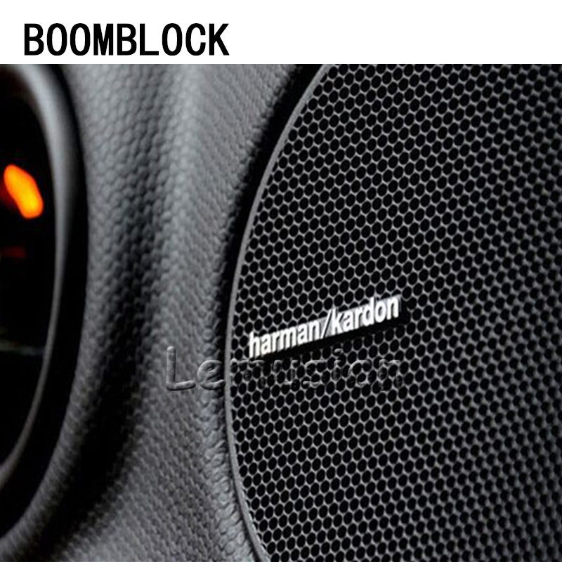 BOOMBLOCK Car Stickers Audio Video <font><b>Speaker</b></font> For Harman Kardon For Saab Chevrolet Cruze VW <font><b>Passat</b></font> B5 <font><b>B6</b></font> Toyota Corolla 2008 RAV4 image