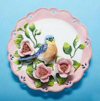 Blue Magpie decorative wall dishes porcelain decorative plates vintage home decor crafts room decoration gift figurine