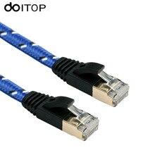 DOITOP Cat7 FTP Ethernet Patch Cable 1000mpbs RJ45 Computer for PC Router Laptop Cable Ethernet 1/1.8/3/5/8/10/15/20m