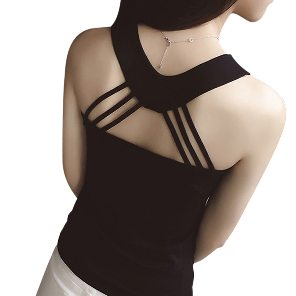 Female Tops Sexy Women Summer Vest Strappy Back Hollow-Out Casual New-Fashion Sleeveless