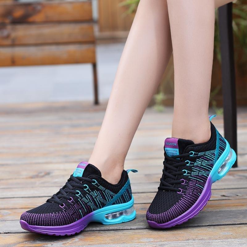 Colorido Superstar Zapatos Mujer 2017 Flying weaving Flats femenina Del Deporte