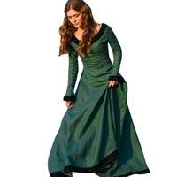 Woweile 4001 Women Vintage Medieval Dress Cosplay Costume Princess Renaissance Gothic Dress