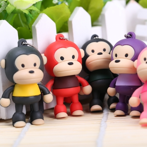 Computer & Office Usb Flash Drives New Fashion Hot Sale Cartoon Cute Monkey Usb Flash Drive 4gb 8gb 16gb Pendrive Flash Stick 32gb 64gb External Memory Storage Pen Drive 128gb Neither Too Hard Nor Too Soft